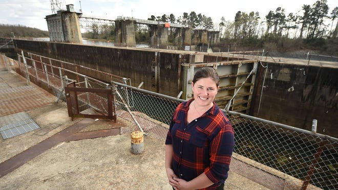 Savannah Riverkeeper Tonya Bonitatibus stands near the New Savannah Bluff Lock and Dam in Augusta in February 2018. Her group and other environmental organizations oppose legislation that would repair and retain the lock and dam.