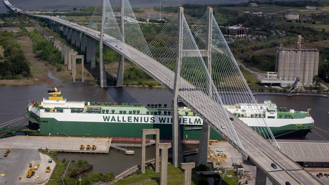 The Georgia Ports Authority will work with the Georgia Department of Transportation and state legislators to examine the infrastructure and possible replacement of the Talmadge Bridge in Savannah.