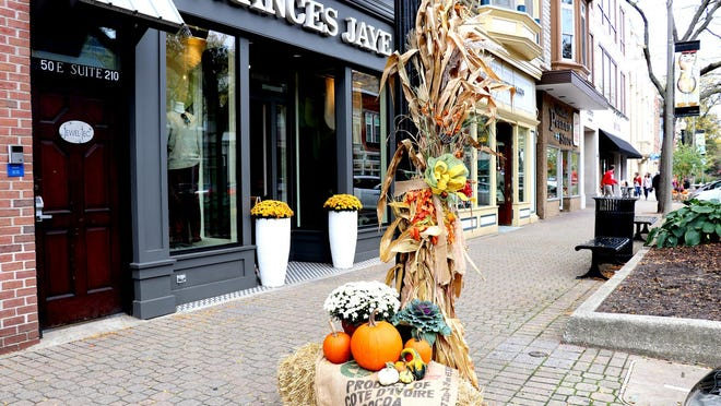 Eighth Street is decorated with pumpkins, corn stalks and flowers for the fall season. According to Holland Area Visitors Bureau Executive Director Linda Hart, hotel occupancy rates held steady throughout the summer.