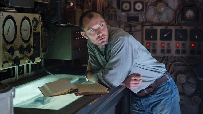 """Jude Law stars in """"Black Sea,"""" a gripping adventure film about a submarine crew searching for missing treasure. It will open Friday at Salem Cinema."""