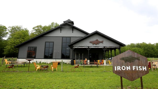 The front of the Iron Fish Distillery in Thompsonville, Michigan on Wednesday, May 24, 2017.