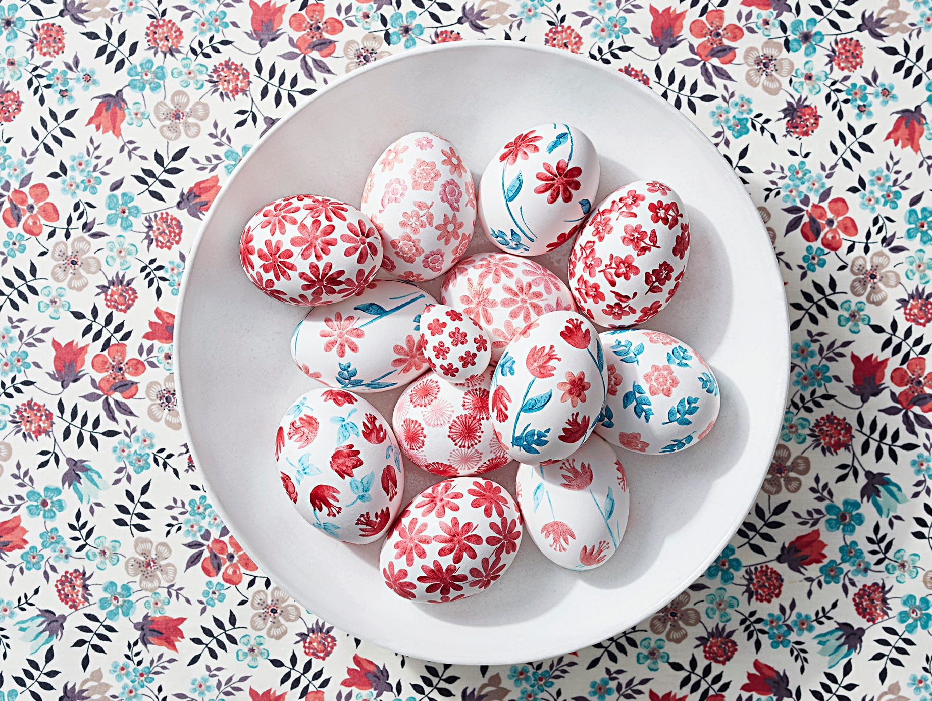 his Easter, outfit eggs in designs that take a cue from classic yet cool fashion textiles