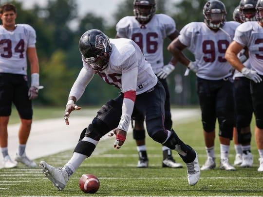 Missouri State defensive lineman Taiwo Oluwafunmila