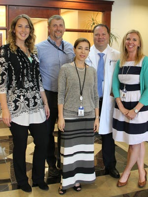 From left, Karilee Fuailetolo, Rusty Moore, Luciana DeSaibro, Benjamin Fox and Natalie Ashby lead the stroke care programs at Dixie Regional Medical Center.