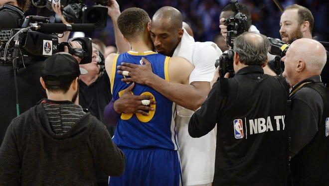 Steph Curry and Kobe Bryant