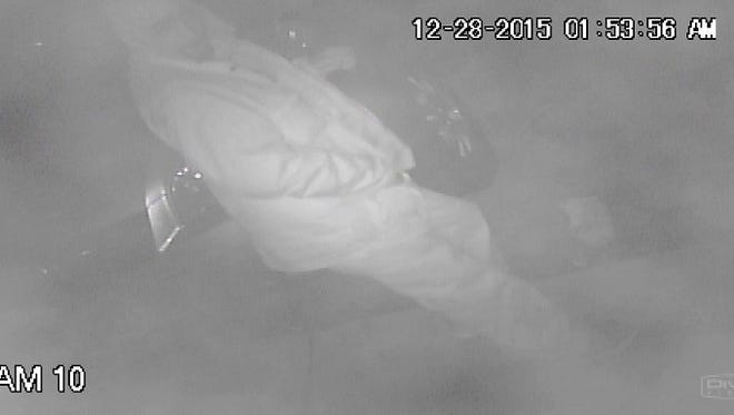 State police are looking for the man shown in the surveillance video - they suspect that he burglarized a Stanton store.