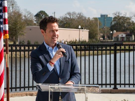 Pensacola Mayor Ashton Hayward spoke at the Government