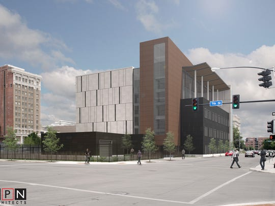 A criminal courts building will be constructed at the site of the old Polk County Jail in downtown Des Moines.