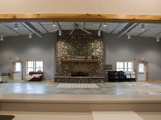 The interior of the new building, The Lodge, is now completed at the Brain Injury Adventure Camp.
