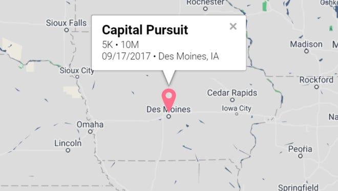 The Capital Pursuit race, listed on Racepass.