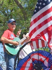 Several floats featured music and some bands also marched in the annual Fourth of July parade in Capitan.