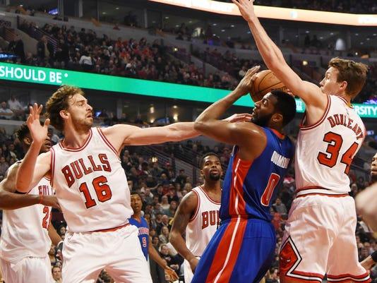 NBA: Detroit Pistons at Chicago Bulls