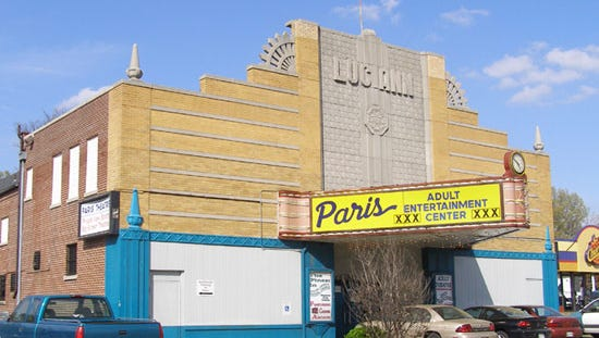 From movie palace to porn: The Paris Adult theater -- originally the wholesome Luciann -- has closed, ending almost 80 years of entertainment.