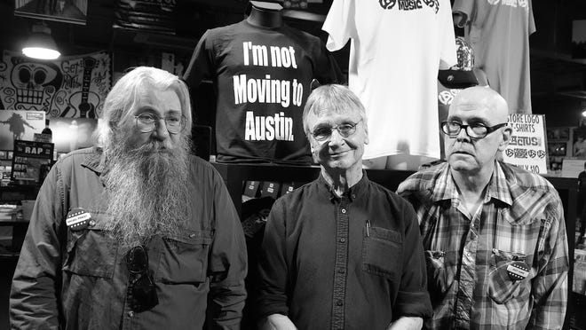Micael Priest, Danny Garrett and Guy Juke were at the forefront of the concert poster golden age in Austin from the mid-1960s to the early 1980s.