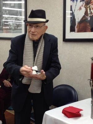 Army veteran Bennie Woolam celebrated his 104th birthday at Nashville's VA hospital Tuesday.