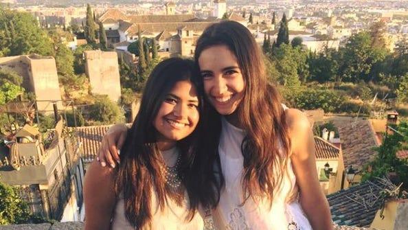 Nabila Mahmud (left) and DeStefano, both sisters of
