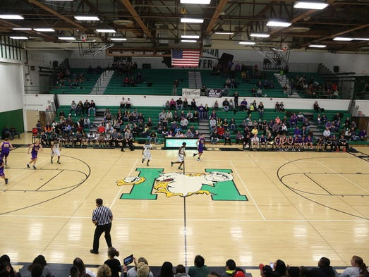 Des Moines North and Indianola square off during a Metro conference game on Friday, Jan. 3, 2014, in Des Moines, Iowa.