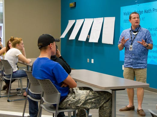 """Renaissance Academy Principal, Dr. Brian Allred, discusses what students should expect during next year of classes during the schools """"Culture Camp"""".  July 23, 2014."""