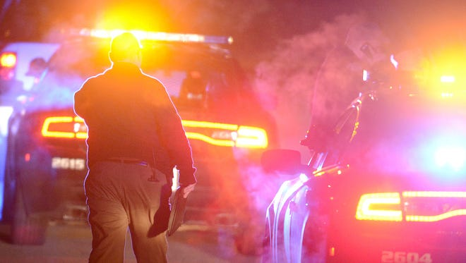 Jackson Police Department investigates a shooting on Larimer Drive on Monday evening.