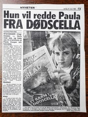 A photo copy of a scandinavian newspaper headline shows a teen reading about the Paula Cooper story. Letters and post cards from around the world that were sent to Gov. Robert Orr, and The Indiana Supreme Court in regards to the Paula Cooper case are now in the possession of the Indiana Archives and Records Administration.