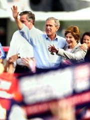 Former President George W. Bush and First Lady Laura