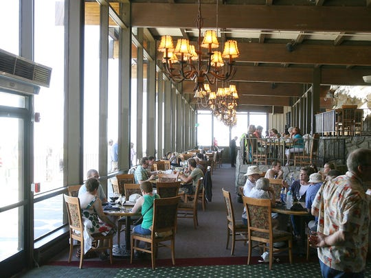 People dine at the Peaks Restaurant at the top of the Palm Springs Aerial Tramway. Fabulous Palm Springs Follies vocalist Judy Bell and two-season Follies vocalist Terri Olsen to perform at the Palm Springs Aerial Tramway on March 9.