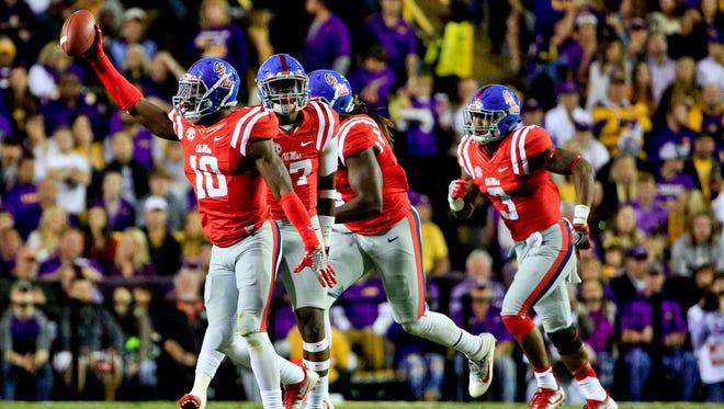 Ole Miss defensive end Marquis Haynes (10) recorded seven sacks and 11 tackles for loss in 2016