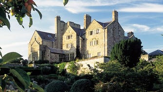 Bodysgallen Hall and Spa, Llandudno, Conwy: Two miles from the seaside town of Llandudno, this Elizabethan mansion stands in 200 spectacular acres of landscaped gardens and parkland, with views of Snowdonia and the massive towers of medieval Conwy Castle.