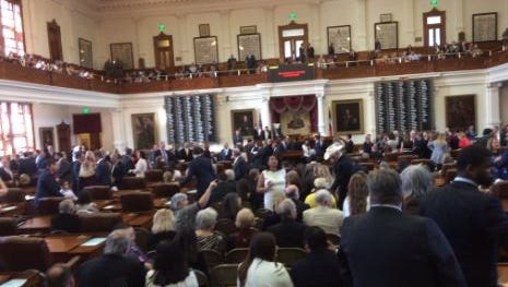 The Texas House in session is considering measures to change tax laws