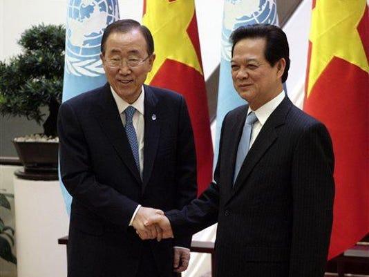 Ban Ki-moon, Nguyen Tan Dung