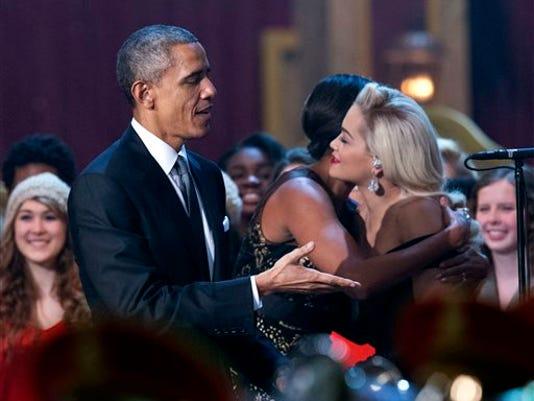 Rita Ora, Barack Obama, Michelle Obama