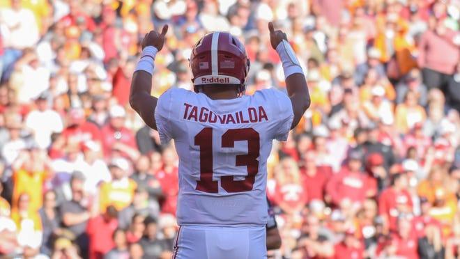 Alabama quarterback Tua Tagovailoa's biggest challenge of the season awaits him Saturday night when the No. 1 Crimson Tide play at No. 3 LSU.
