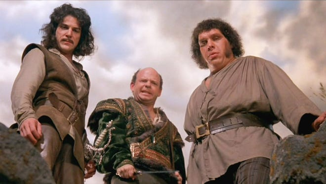 "Mandy Patinkin (from left), Wallace Shawn and Andre the Giant in a scene from the 1987 film ""The Princess Bride."""