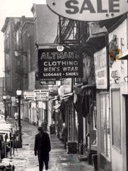 Beansey Altman's clothing store on Front Street, seen in this 1965 photo, was considered a great place for bargains.