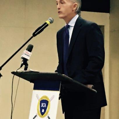 U.S. Rep. Trey Gowdy speaks at Bridgeway Christian