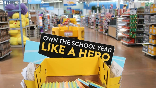 """Wal-Mart in Port Clinton is promoting its back-to-school deals by celebrating """"everyday heroes."""" This weekend, the store's back-to-school deals are even cheaper with the Ohio sales tax holiday."""