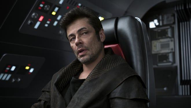 Benicio del Toro is another newcomer to the 'Star Wars' saga as DJ in 'The Last Jedi.'