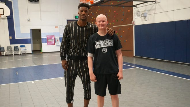 """Jimmy Butler and Ethan Whitney of Hortonville will be featured on ESPN's """"My Wish."""""""