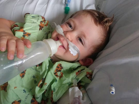 Dylan O'Connor, 2, survived a near-drowning after his