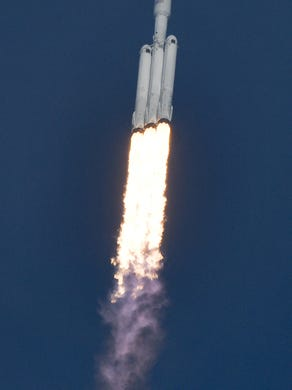 SpaceX's newest rocket, the Falcon Heavy , got out