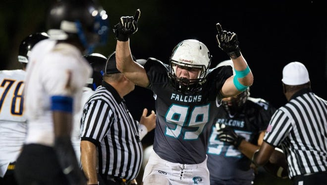 Jensen Beach's coaches expect rising senior linebacker Cole Podaras to have a big season in 2017.