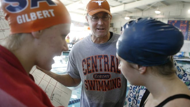 Central head swimming coach David Hague is nearing the end of a 41-year career.