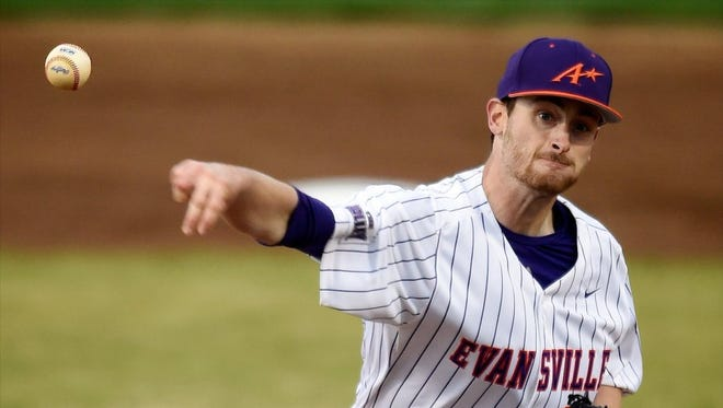 University of Evansville senior right-hander Connor Strain will start Wednesday against Indiana State in the opening round of the Missouri Valley Conference Tournament.