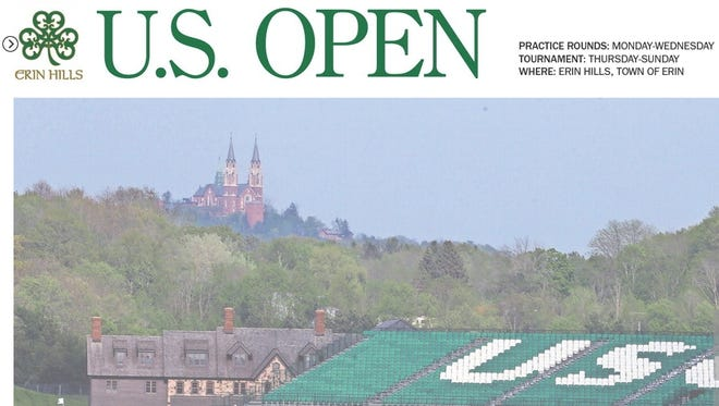 US Open Front Page