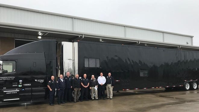 Bridgestone Americas, Inc. made a special delivery to Murfreesboro Fire Rescue Department on December 21 with a 53-foot fully enclosed emergency response trailer