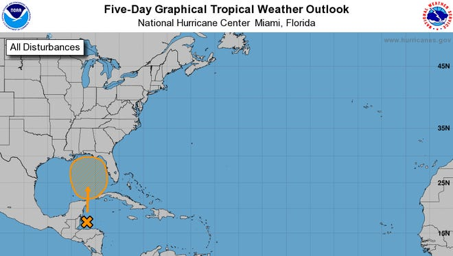 The National Hurricane Center has increased the chances that a tropical system will develop in the Gulf of Mexico in the next five days.