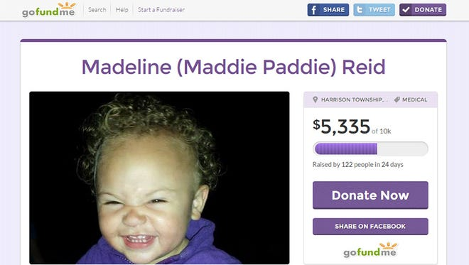 Madeline Reid died of enterovirus Friday according to the family's Go Fund Me page.