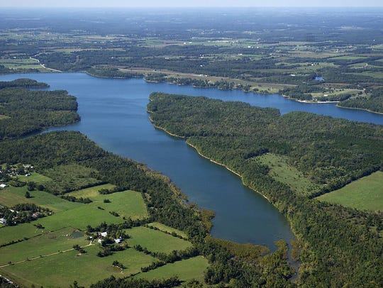 820-acre Fellows Lake, a major source of Springfield's