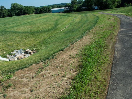 The opening of Gloninger Woods Park at 22nd and Chestnut in North Cornwall Township, pictured on July 6, 2016, is expected to open in the fall. A recent inspection by the Department of Conservation and Natural Resources found issues with seeding in certain areas in the park.