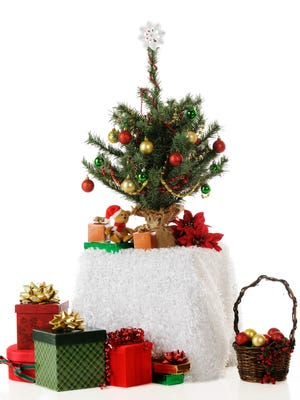 A tiny Christmas tree is a great way to add that little something to your holiday decor.